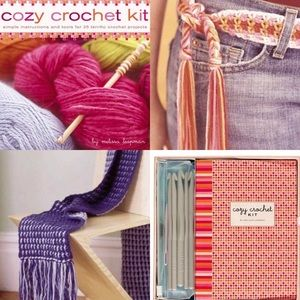 Cozy Crochet Kit Learn How Yarn Hooks Boxed Set